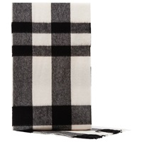 Reiss Hamish Check Wool Scarf Charcoal