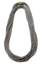 Lafayette 148 New York Women's Mesh Chain Multistrand Necklace Black
