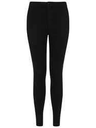 Miss Selfridge Petite High Waist Jeans Black