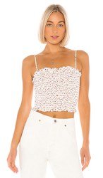Bcbgeneration Smocked Crop Top In White. Off White
