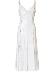 Racil Marilyn Two Tone Sequin Embellished Midi Dress White