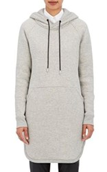 The Reracs Women's Cotton Fleece Oversized Hoodie Grey