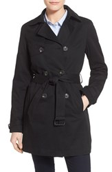 Women's T Tahari Eyelet Back Fit And Flare Trench Coat