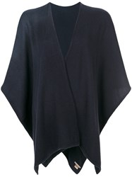 Hemisphere Knitted Cape Cashmere Blue