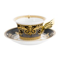 Versace Home 25Th Anniversary Prestige Gala Teacup And Saucer Limited Edition