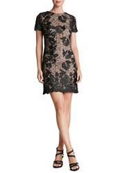 Women's Dress The Population 'Joanne' Corded Embroidered Lace Minidress