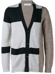 Golden Goose Deluxe Brand Distressed Paddy Cardigan Nude And Neutrals