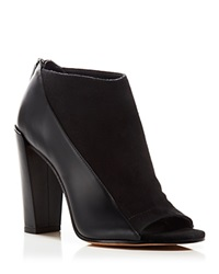 Vince Open Toe Booties Bayard High Heel Black