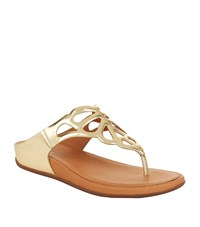 Fitflop Bumble Leather Sandals Female Gold