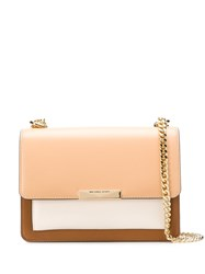 Michael Kors Collection Colour Blocked Shoulder Bag Neutrals
