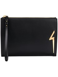 Giuseppe Zanotti Design New Thunder Clutch Black