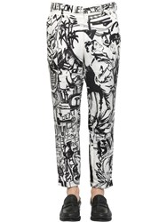 Dolce And Gabbana 17.5Cm Musical Mural Printed Linen Pants