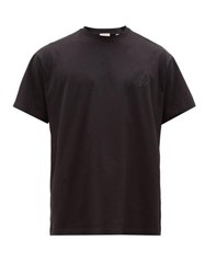 Burberry Emberly Tb Embellished Cotton Jersey T Shirt Black