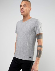 Produkt V Neck T Shirt With Pocket Light Grey