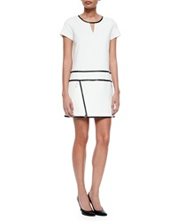 Andrew Marc New York Short Sleeve Suiting Dress