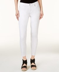 Eileen Fisher System Slim Fit White Wash Ankle Jeans
