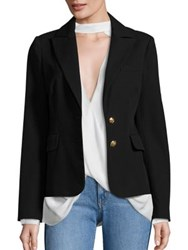 Derek Lam Stretch Cotton Blazer Black