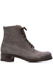 Gravati Lace Up Ankle Boots Grey