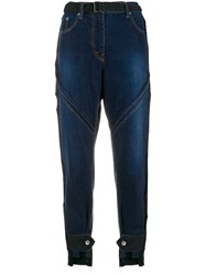 Sacai Belted Cropped Jeans Blue