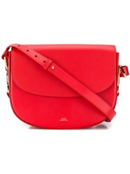 A.P.C. Odette Crossbody Bag Red