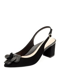 Taryn Rose Michelle Suede Slingback Pumps Black