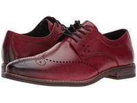 Stacy Adams Alaire Cranberry Lace Up Wing Tip Shoes Red