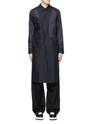 Acne Studios 'Mauro' Raglan Sleeve Virgin Wool Voile Coat Blue