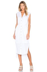 Heather Linen Maxi Shirt Dress White