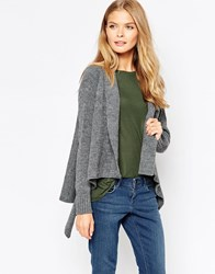 Wal G Waterfall Cardigan Grey