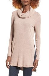 Astr Women's Cowl Neck Pullover Taupe Mauve