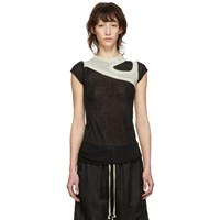 Rick Owens Black And Grey One And One Quarter T Shirt