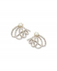 Alexis Bittar Crystal Lace Orbit Earrings
