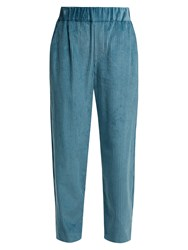 Isabel Marant Meloy High Waisted Corduroy Trousers Light Blue