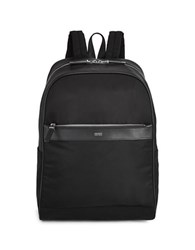 Hugo Boss Leather Trim Backpack Black