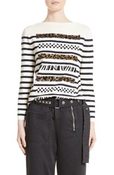 Marc Jacobs Women's Embellished Breton Stripe Top