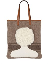 Carmina Campus Head With Short Hair Recycled Wool Tote