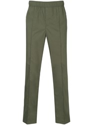 Ck Calvin Klein Cropped Track Trousers Green