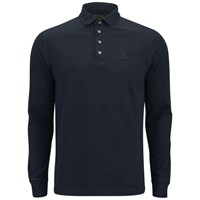 Barbour Men's Heritage Standard Long Sleeve Polo Shirt Navy