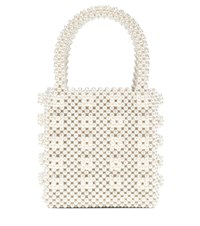 Shrimps Antonia Faux Pearl Tote Neutrals