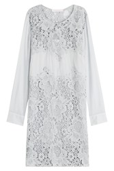 See By Chloe See By Chloe Cotton Dress With Lace Grey