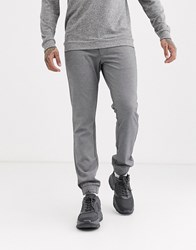 Only And Sons Slim Tapered Fit Cuffed Bottom Trousers In Grey