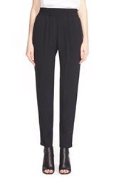 Women's Rebecca Taylor 'Emma' Side Stripe Pants Black