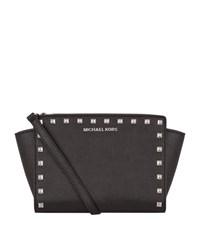 Michael Kors Small Selma Studded Messenger Bag Female Black