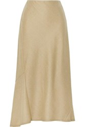 Theory Wool Midi Skirt Beige