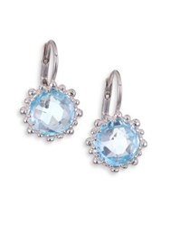 Anzie Dew Drop Sky Blue Topaz Snowflake Earrings