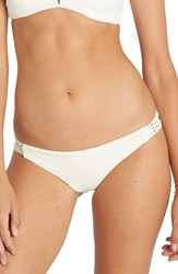 Billabong Women's It's About Tropic Bikini Bottoms Seashell Solid