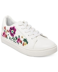Betsey Johnson Maya Embroidered Sneakers Women's Shoes White
