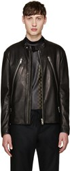 Maison Martin Margiela Black Leather Zippered Jacket