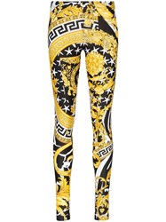 Versace Baroque Print Skinny Trousers Multicolour