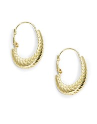Cole Haan Textured Oval Hoops Gold